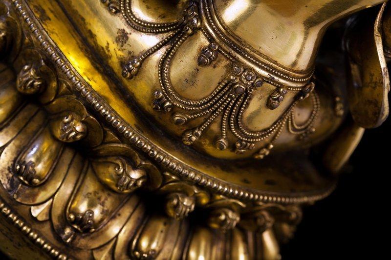 Chinese Ming dynasty Bronze figure of Buddha - 5