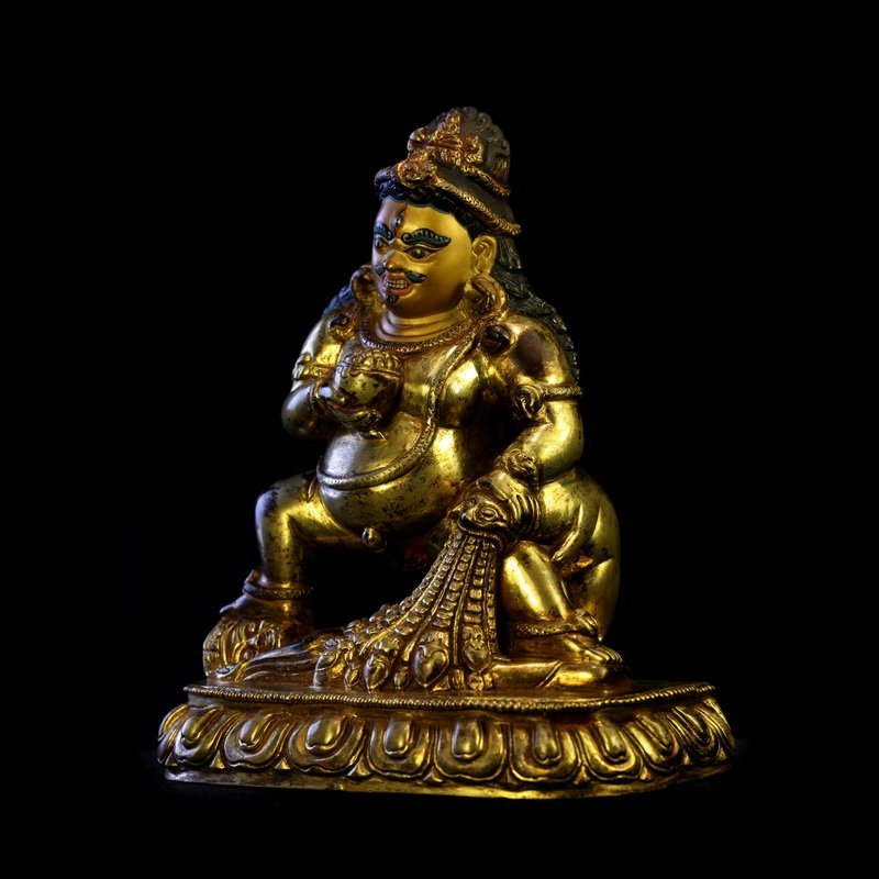 All the gold in the qing dynasty old Buddha black god - 2