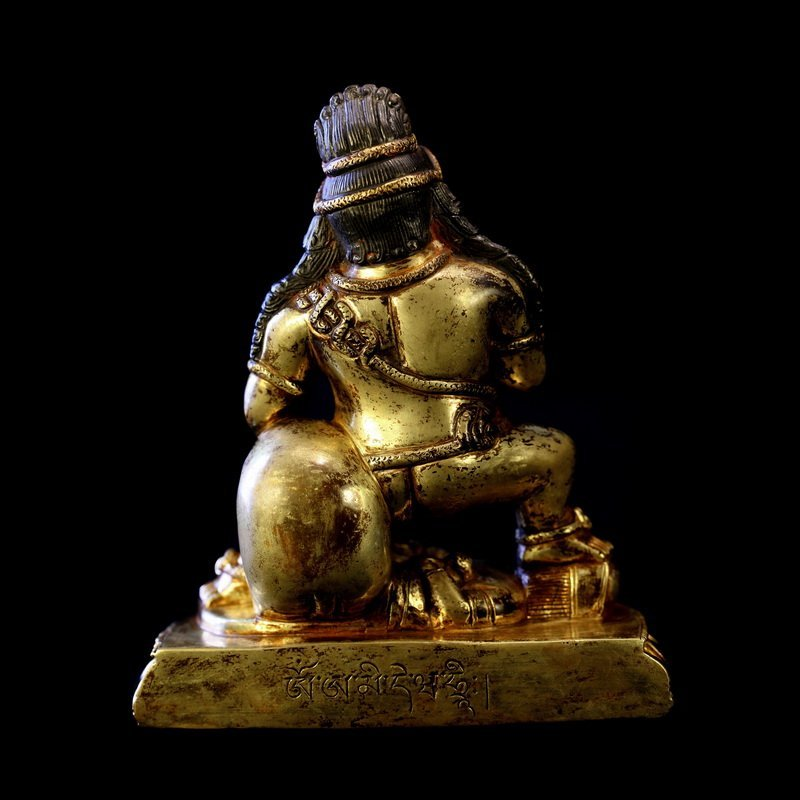 All the gold in the qing dynasty old Buddha black god - 4