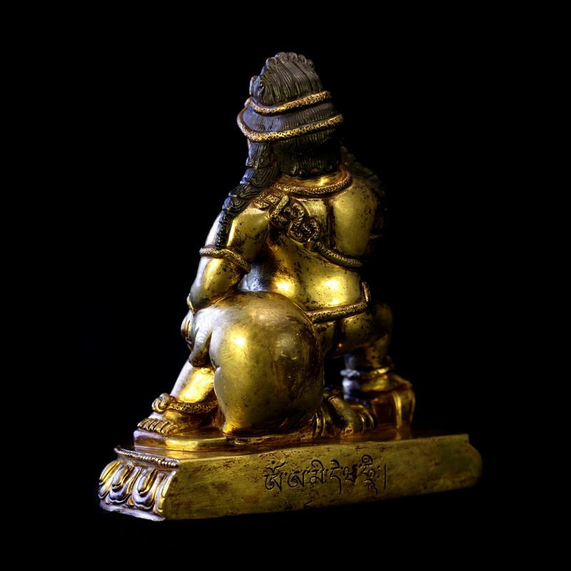 All the gold in the qing dynasty old Buddha black god - 5