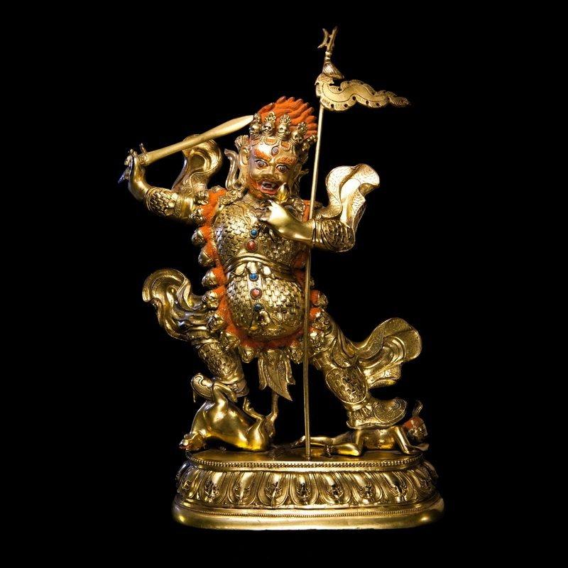 Chinese Qing dynasty Bronze figure of Buddha