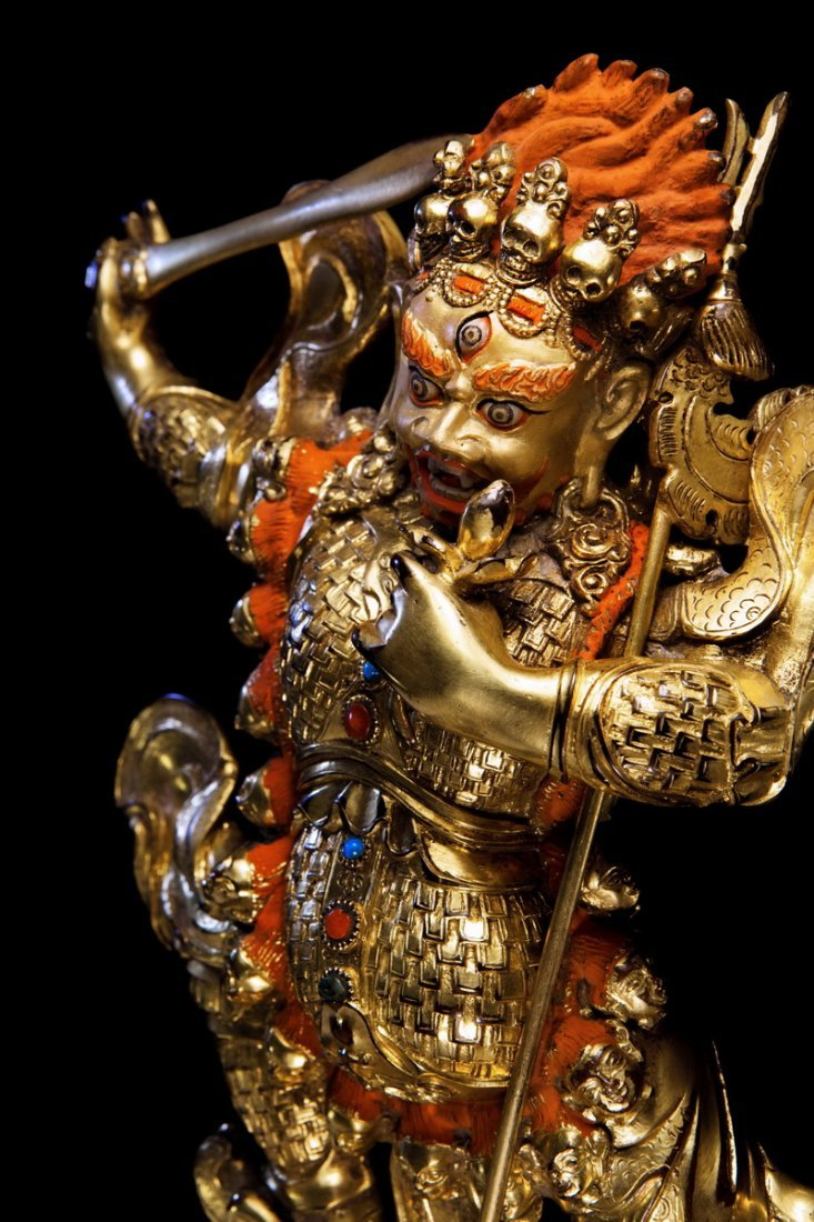 Chinese Qing dynasty Bronze figure of Buddha - 2