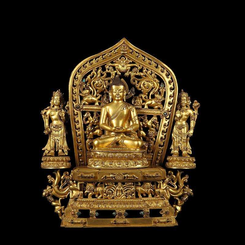 Chinese Ming Dynasty Gilt Bronze Buddha Figure