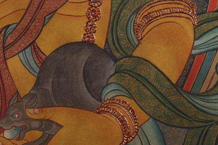 Chinese Qing Dynasty Painting Buddhist Thangka - 6