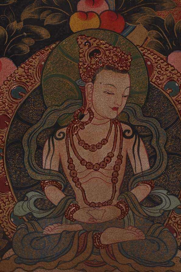 Chinese Qing Dynasty Painting Buddhist Thangka - 7