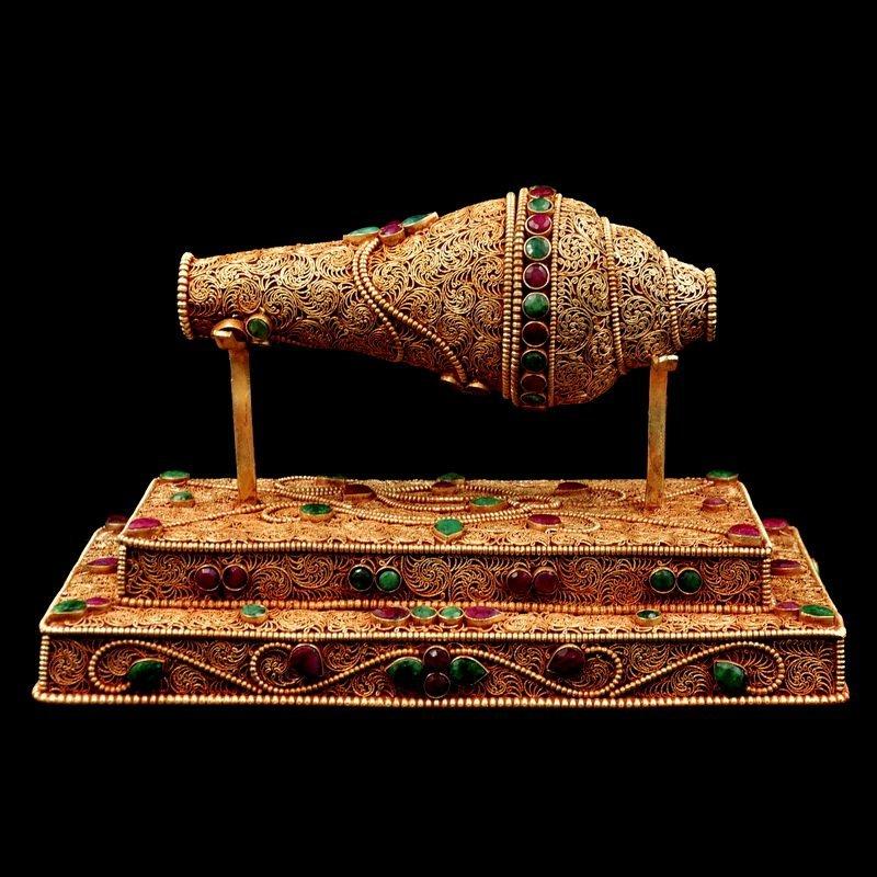Vintage Tibetan Buddhism Shell Pray Trumpet