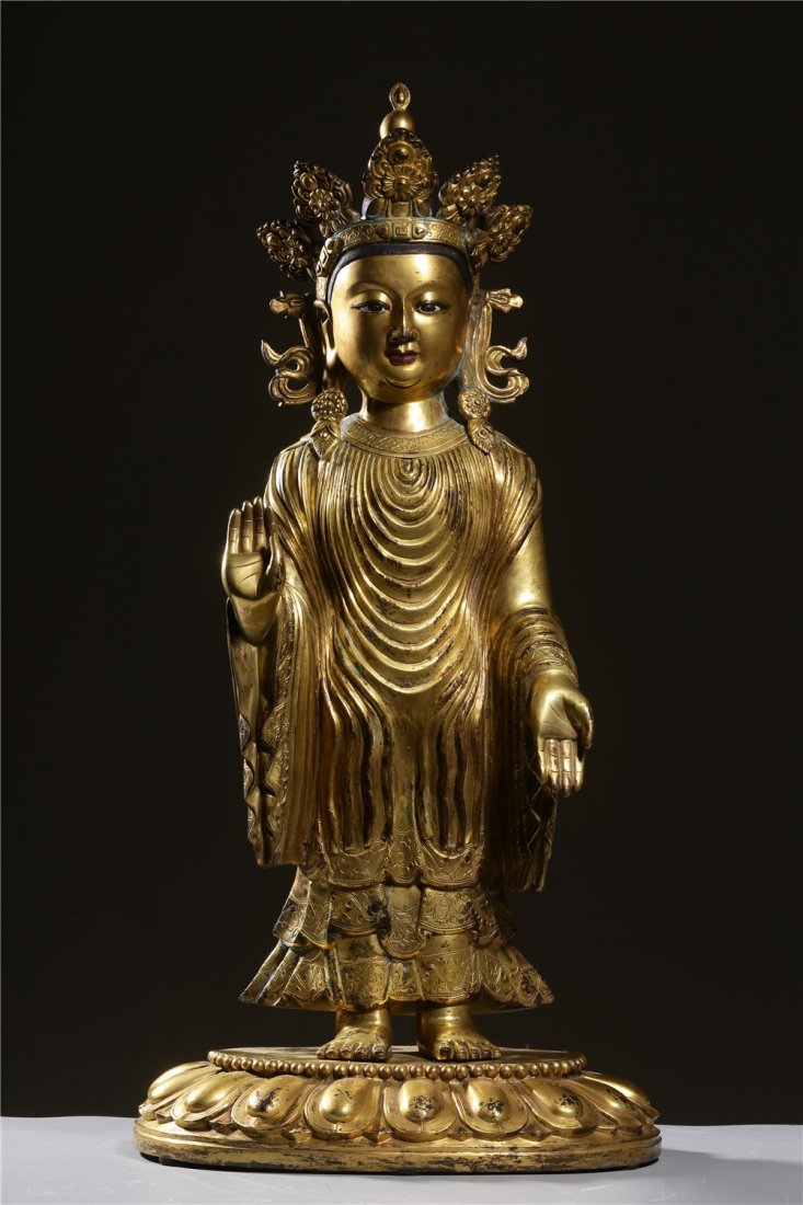 Large Chinese Ming Dynasty Bronze Boddhisattva