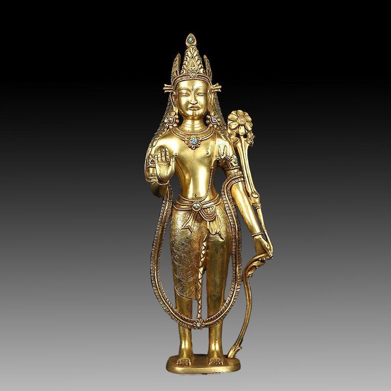 Chinese Ming Dynasty Bronze Boddhisattva