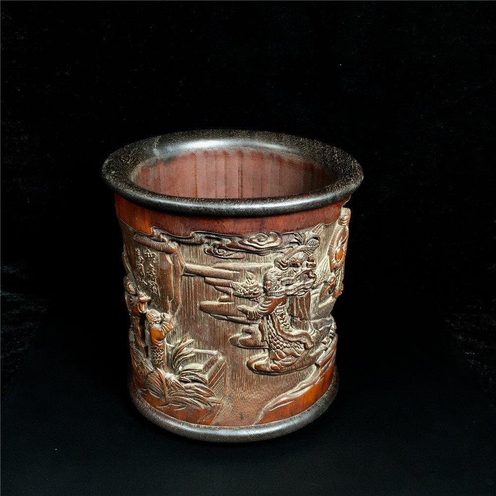 Chinese Bamboo Brush Pot - 6