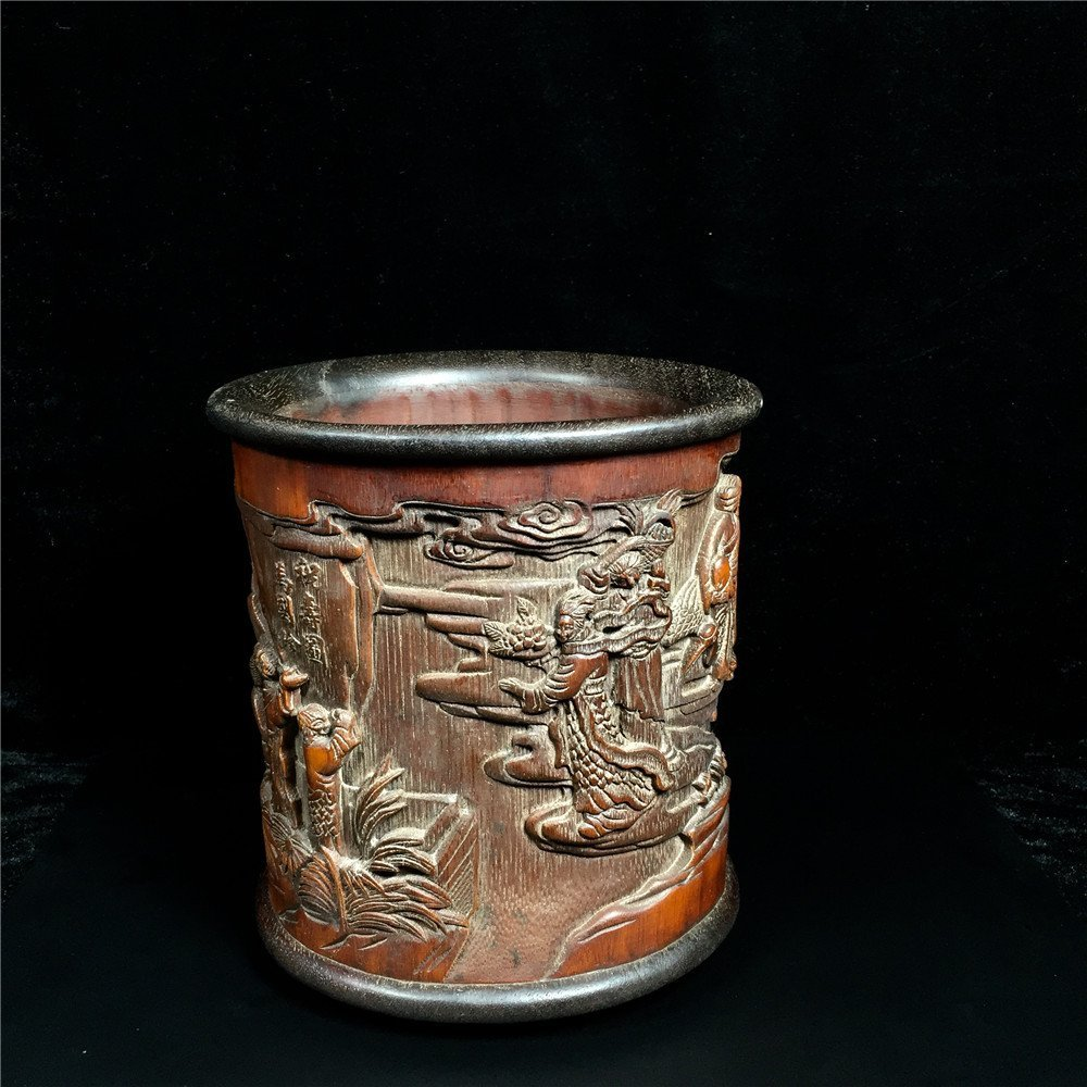 Chinese Bamboo Brush Pot - 7