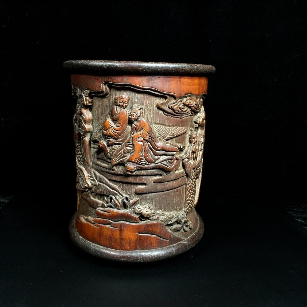 Chinese Bamboo Brush Pot - 8