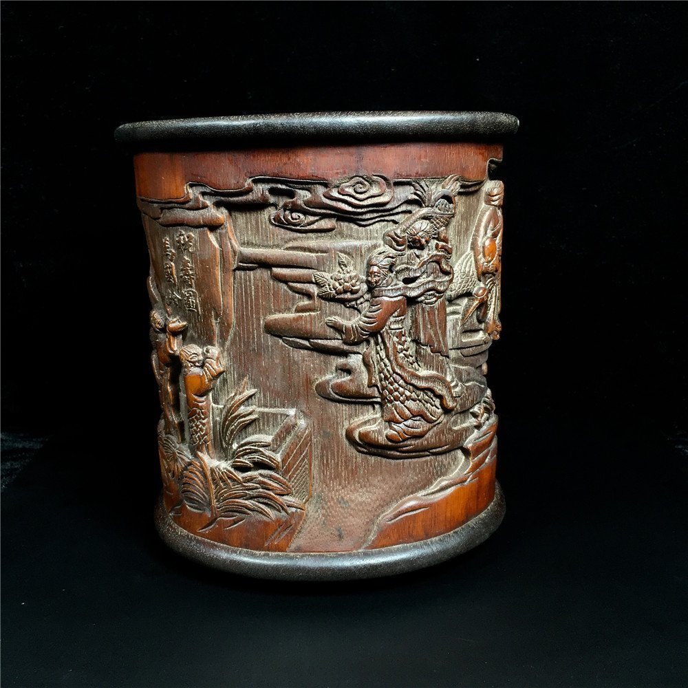 Chinese Bamboo Brush Pot - 9