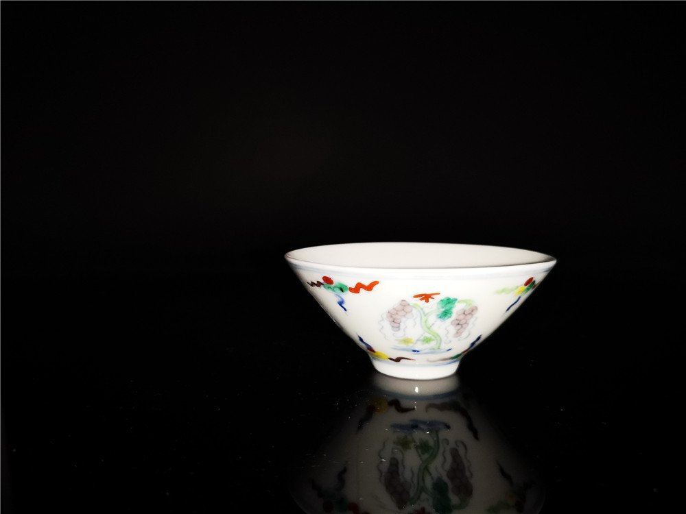 Chinese Doucai Porcelain Cup - 2