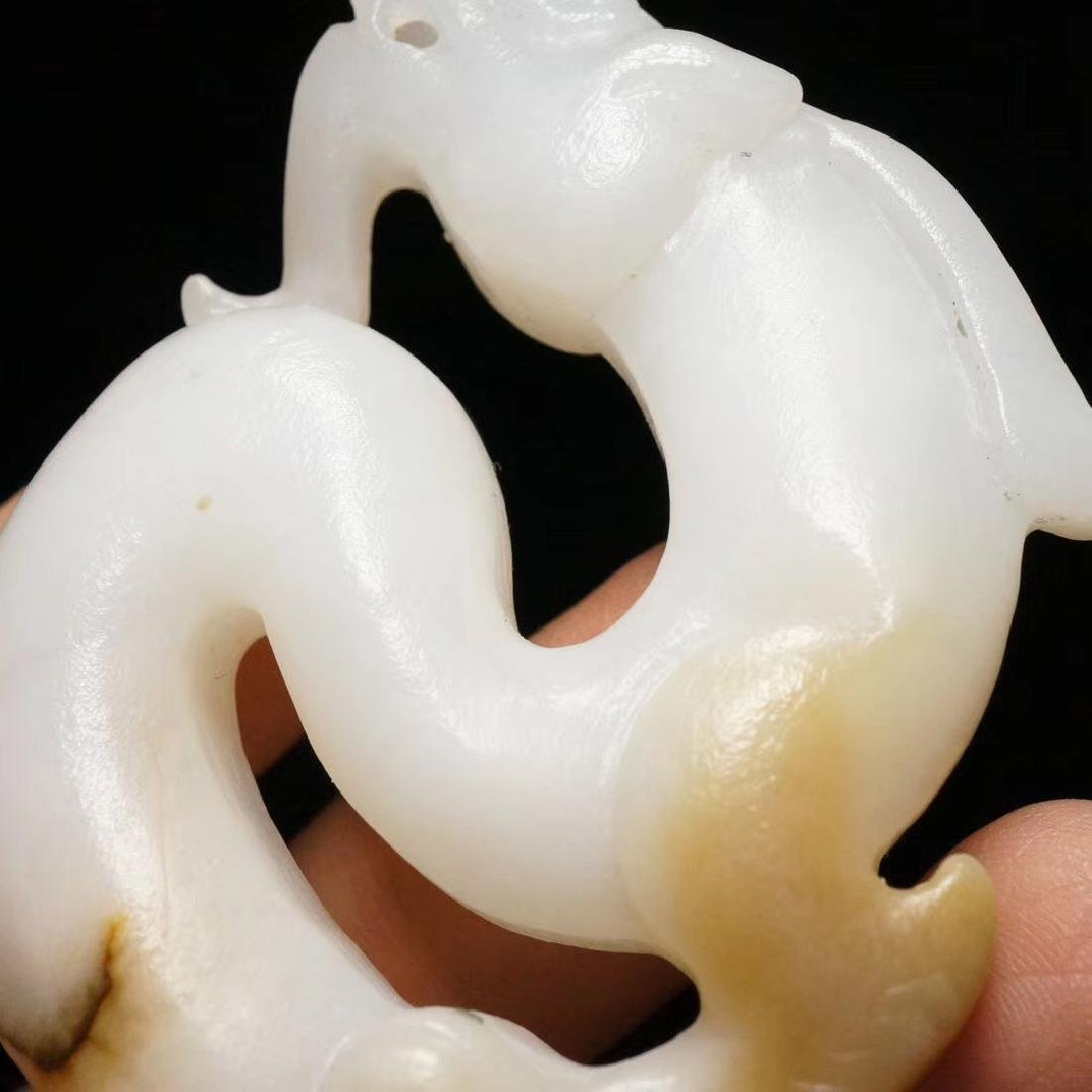 Chinese Qing Dynasty  Jade Dragon - 8