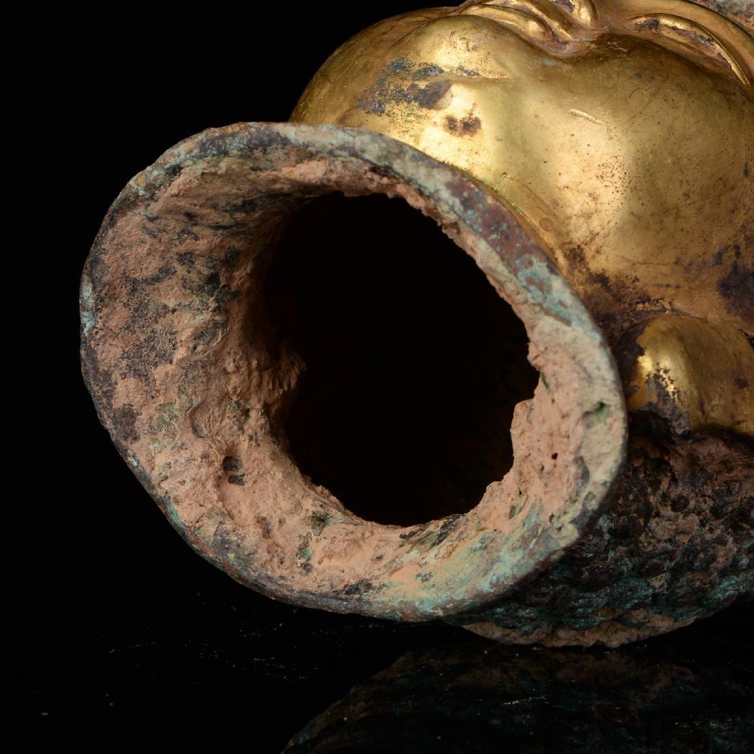 Chinese Qing Dynasty Tibetan Bronze Buddha Head - 6