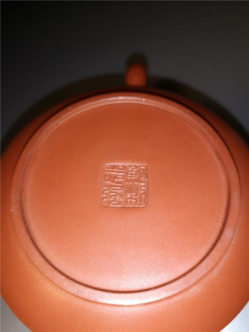 Chinese zisha teapot and cover.(Mark of Bao Zhiqiang) - 8