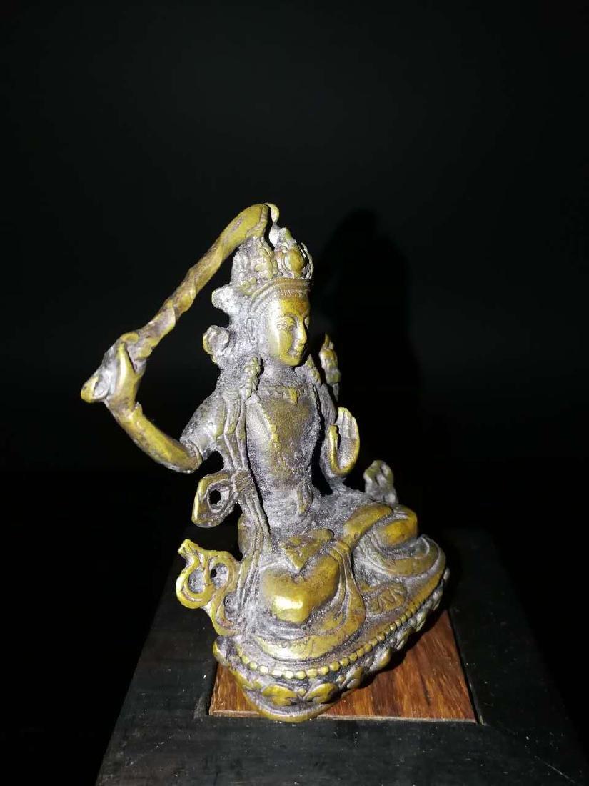 Chinese antique gilt bronze buddha - 3