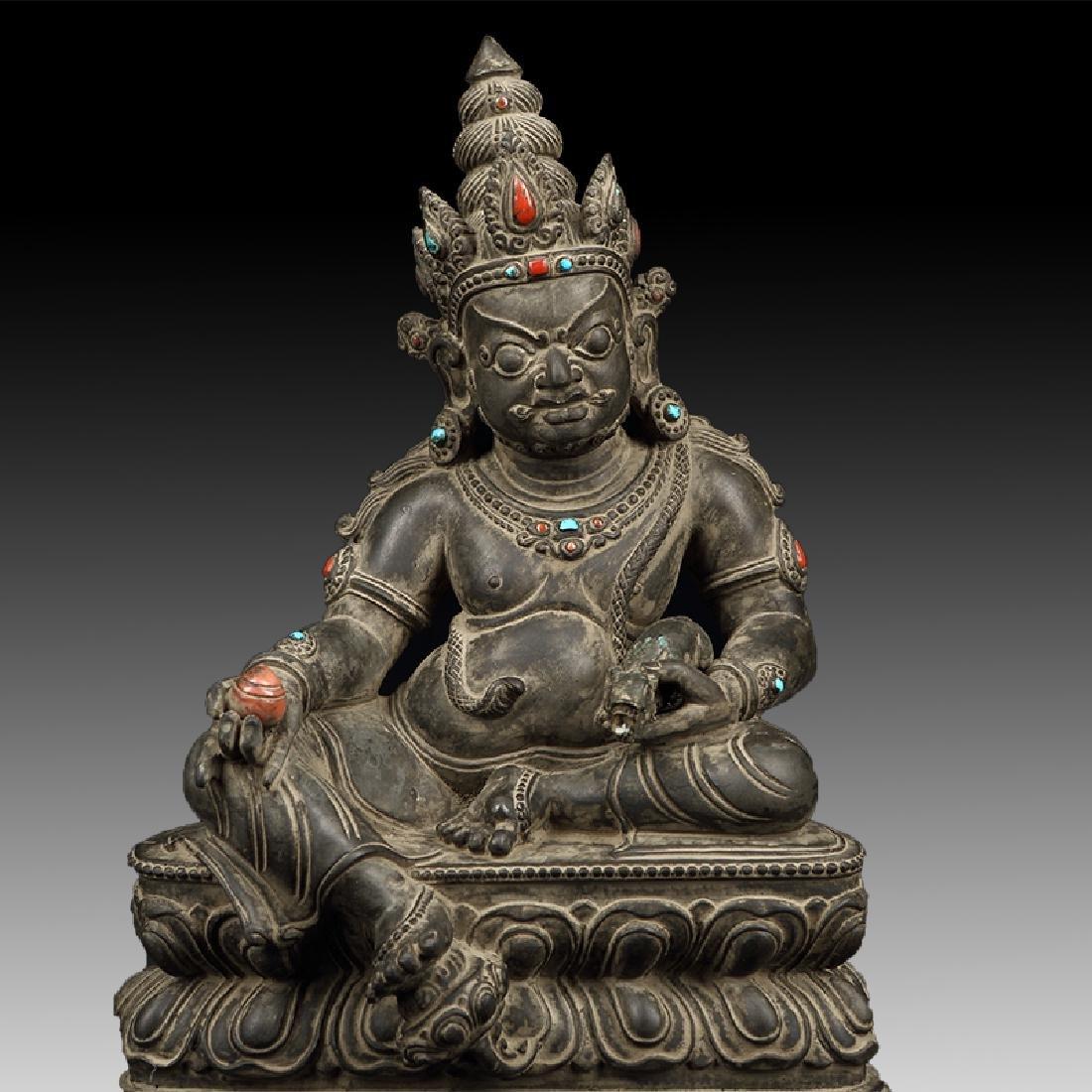 Chinese Antique Stone Buddha - 5