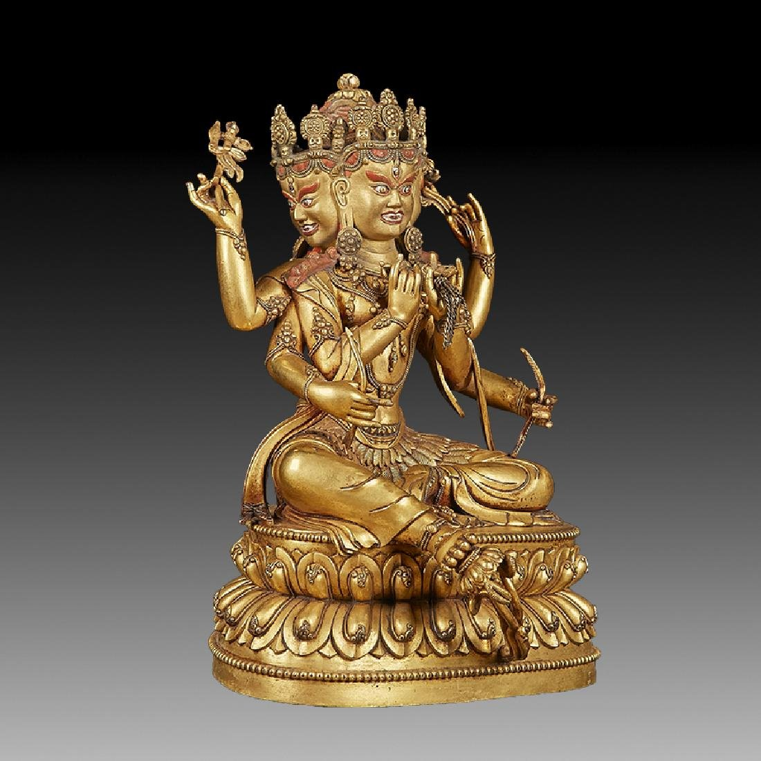 Chinese  Ming Dynasty Bronze Buddha Figure - 3