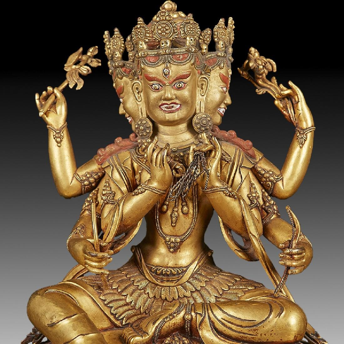 Chinese  Ming Dynasty Bronze Buddha Figure - 7