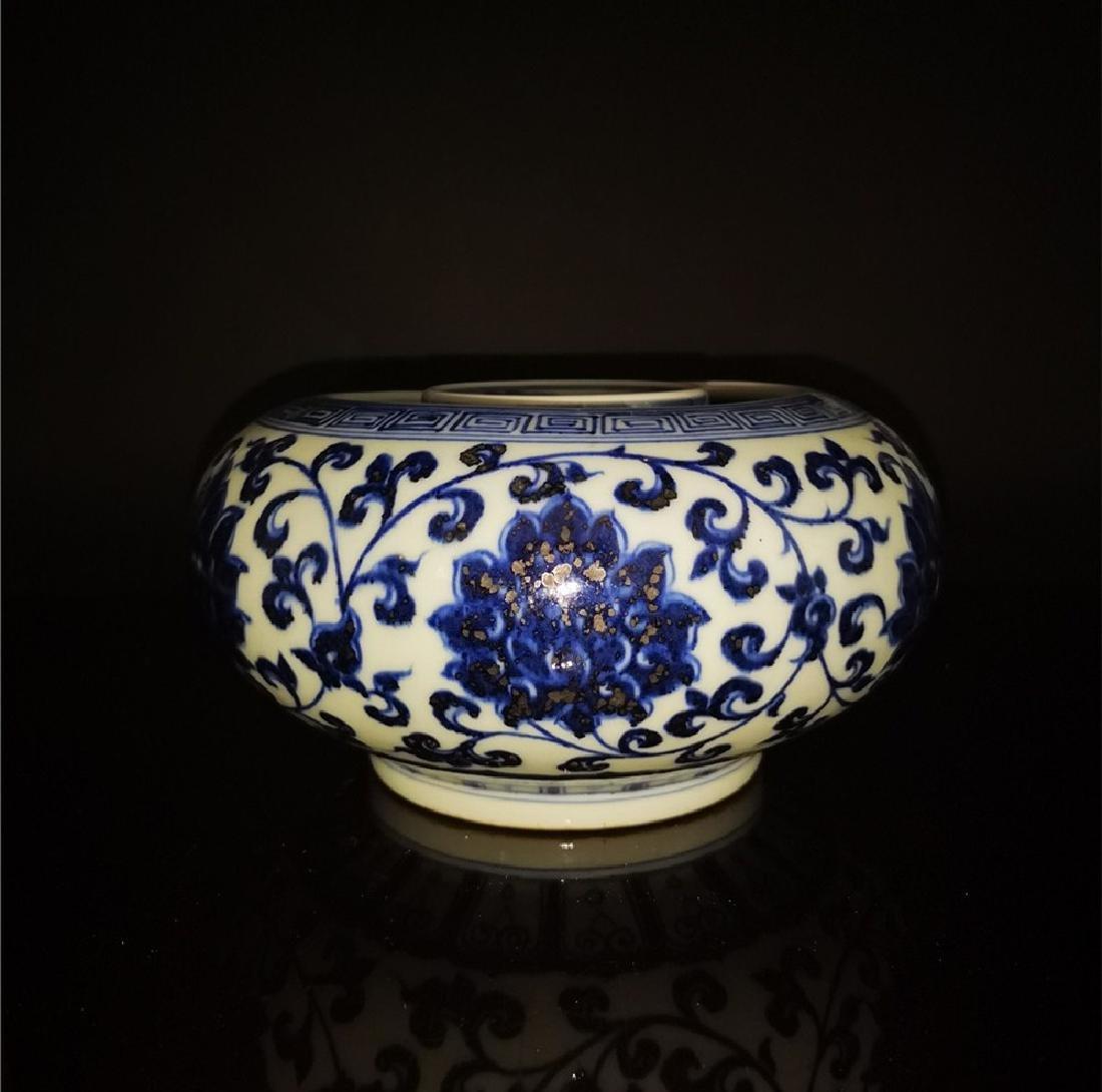 Chinese Blue And White Porcelain Writing-brush washer