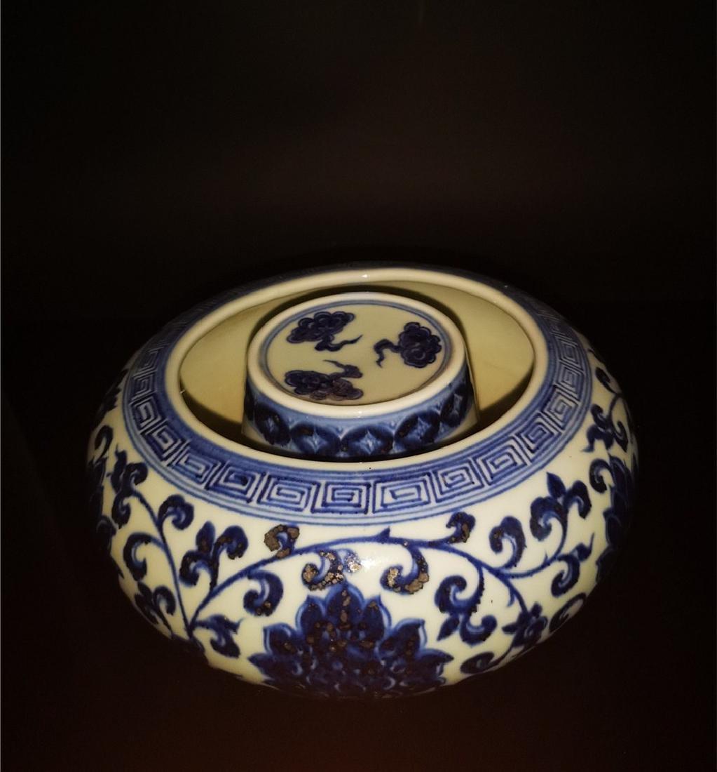 Chinese Blue And White Porcelain Writing-brush washer - 2