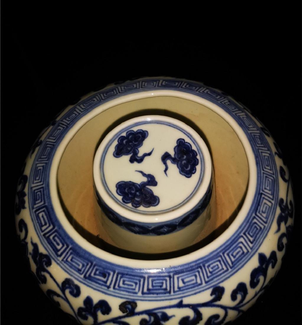 Chinese Blue And White Porcelain Writing-brush washer - 3