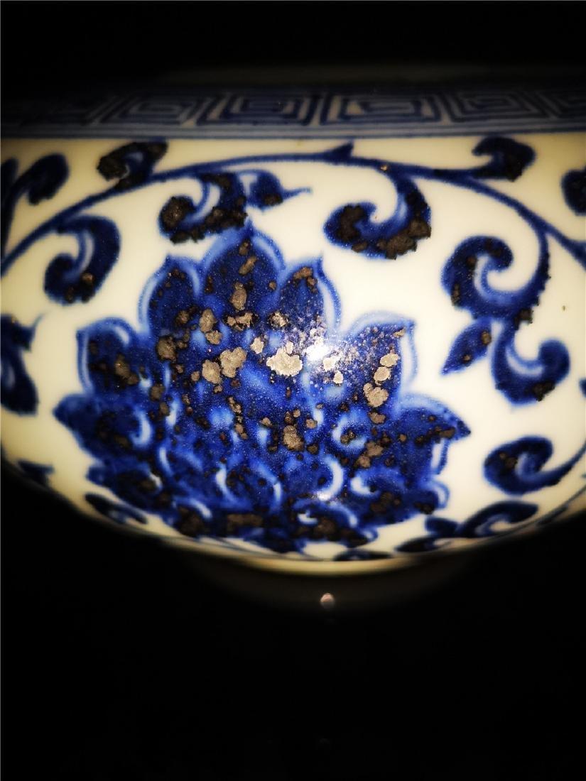 Chinese Blue And White Porcelain Writing-brush washer - 4