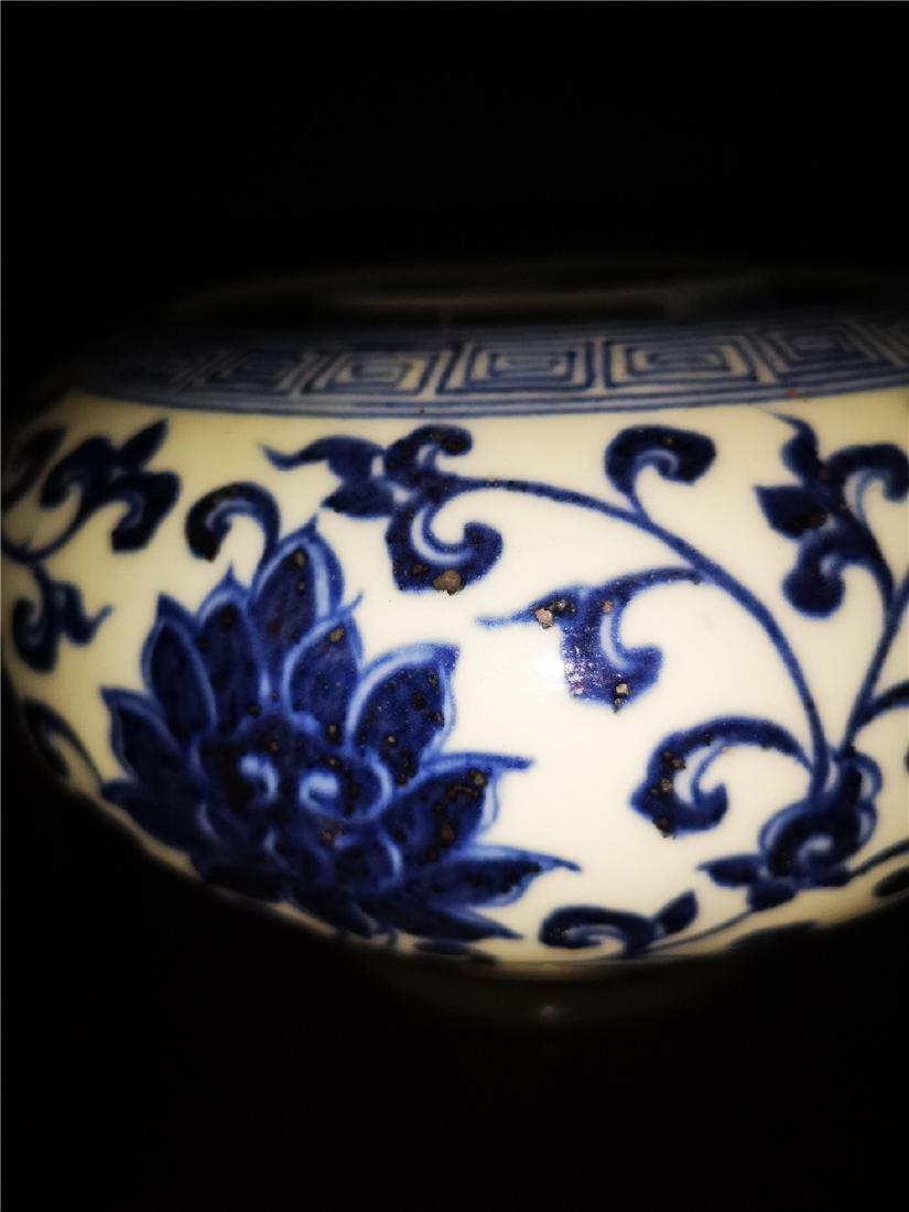 Chinese Blue And White Porcelain Writing-brush washer - 5