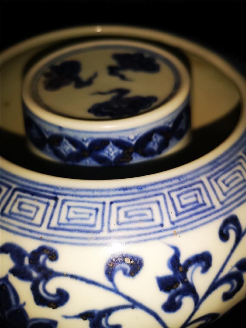 Chinese Blue And White Porcelain Writing-brush washer - 6