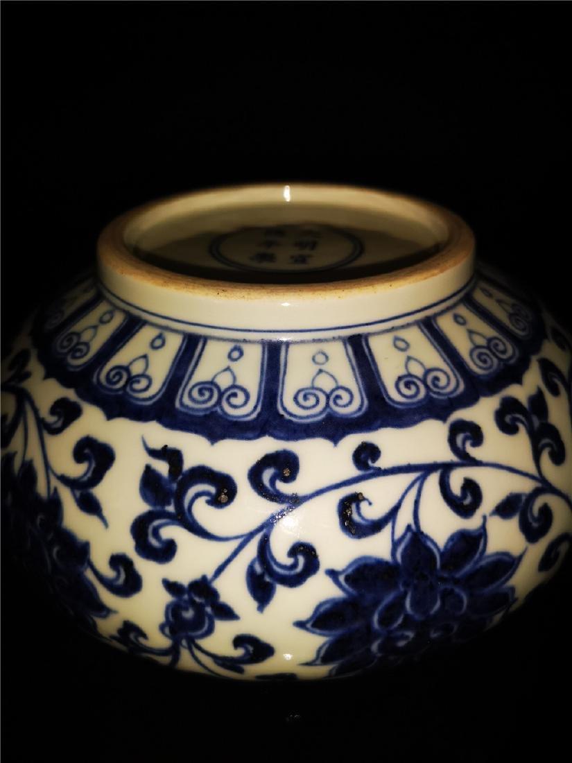 Chinese Blue And White Porcelain Writing-brush washer - 7