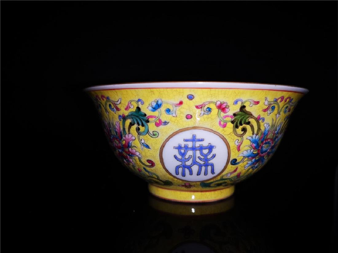 Chinese Famille Rose Porcelain Bowl - 6