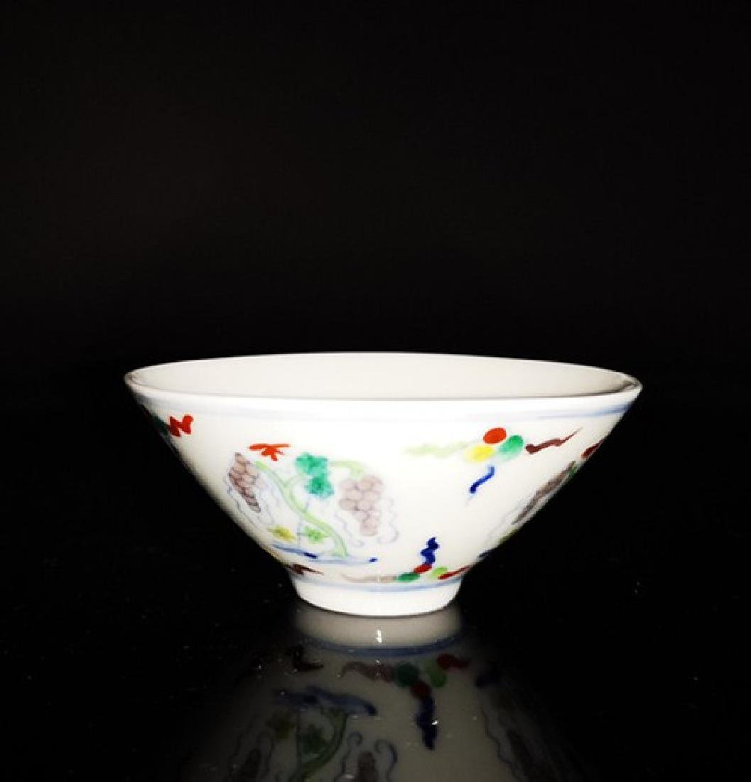 Chinese Doucai Porcelain Cup