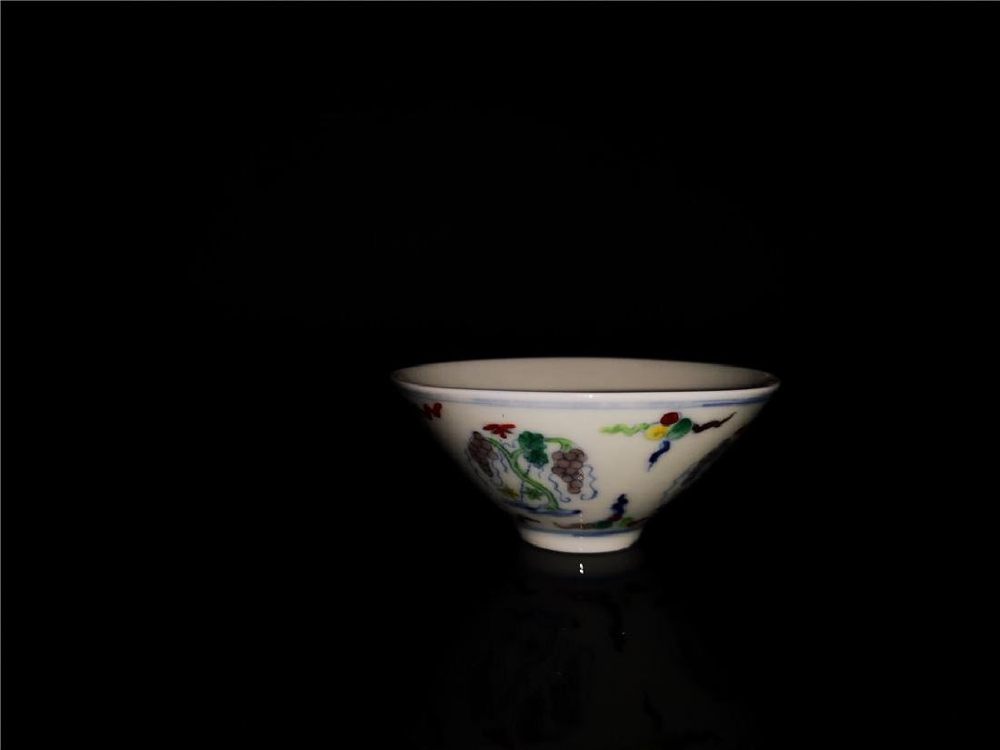 Chinese Doucai Porcelain Cup - 8