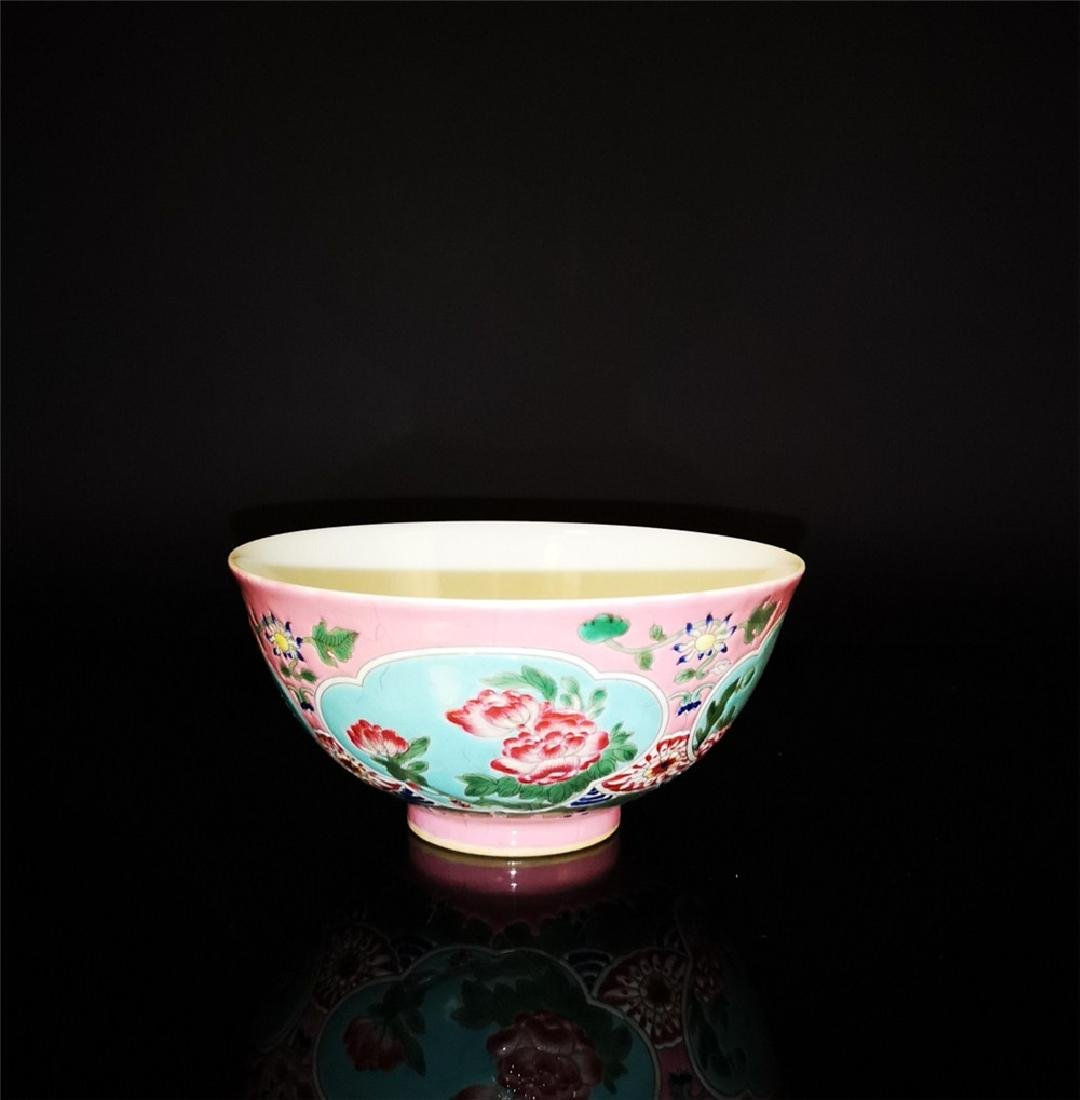 Chinese Famille Rose Porcelain Bowl - 4