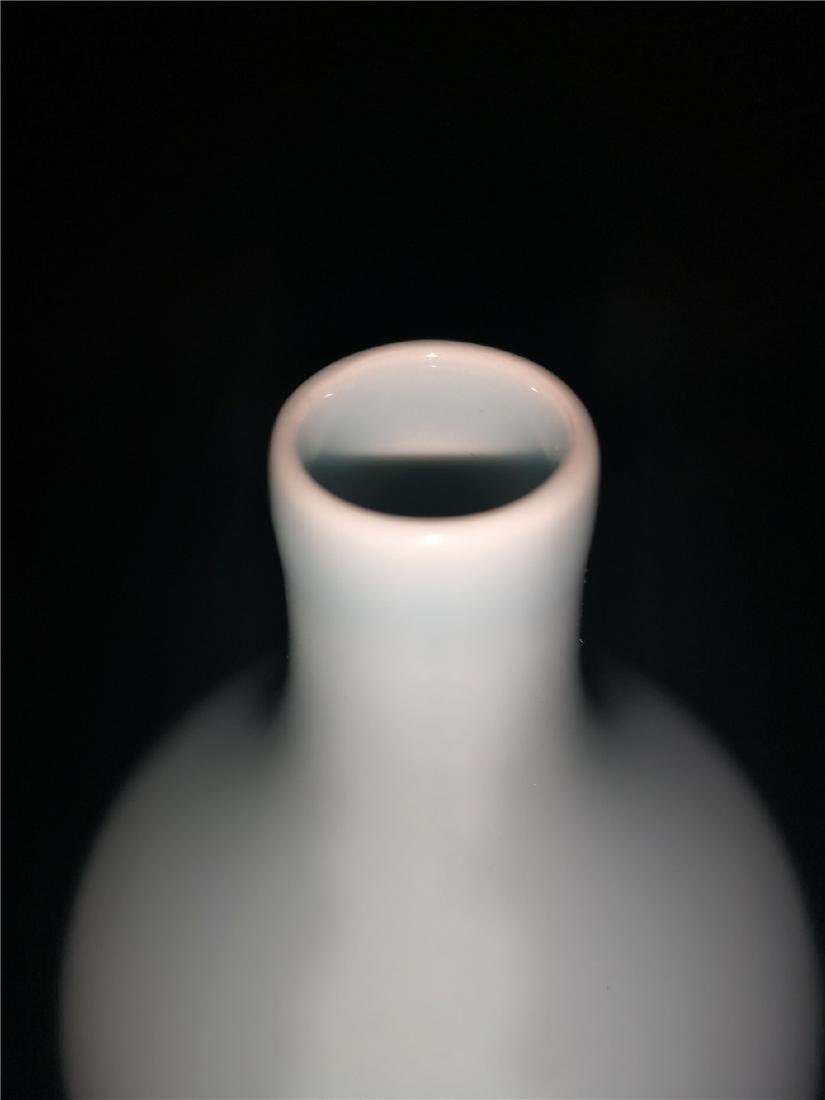 Chinese Pale Celadon Porcelain Bottle Vase - 4