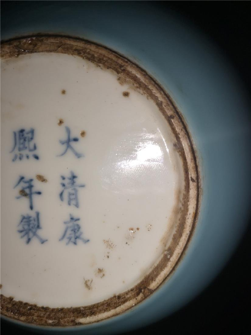 Chinese Pale Celadon Porcelain Bottle Vase - 6
