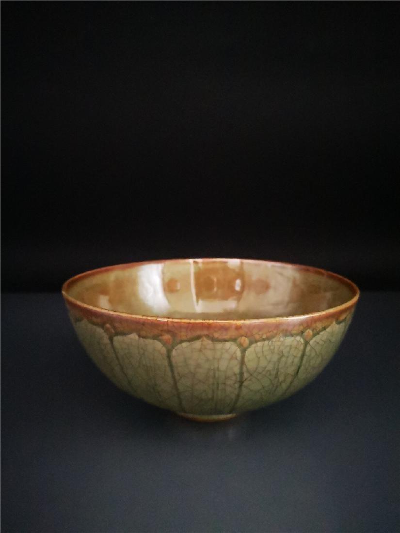 Chinese Longquan Celadon Porcelain Bowl - 5