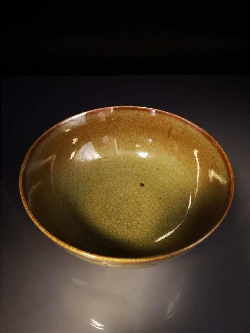 Chinese Longquan Celadon Porcelain Bowl - 7