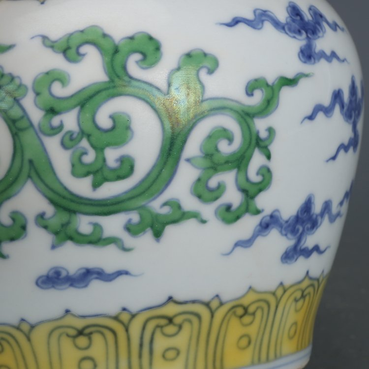 Pair of Chinese Doucai Porcelain Ginger Jars - 2