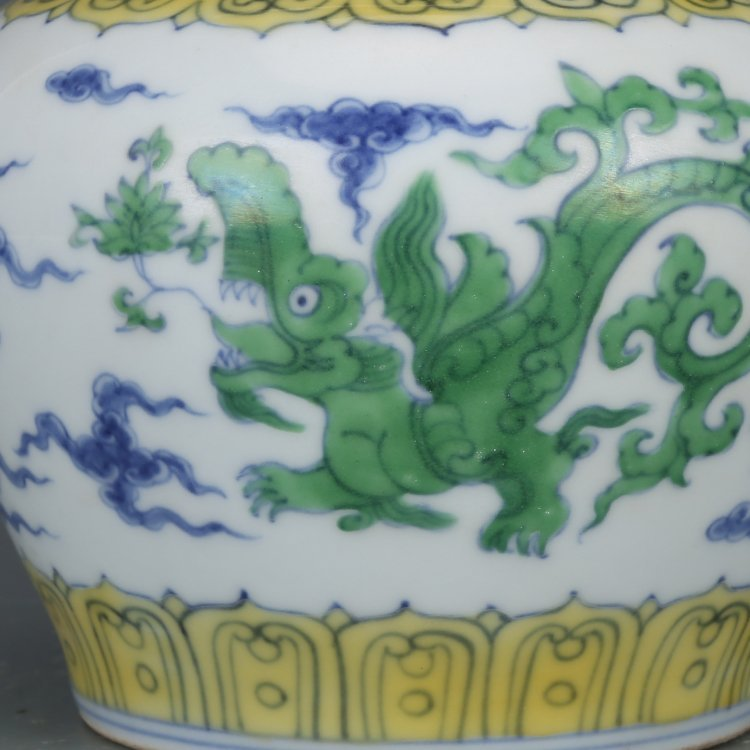 Pair of Chinese Doucai Porcelain Ginger Jars - 4