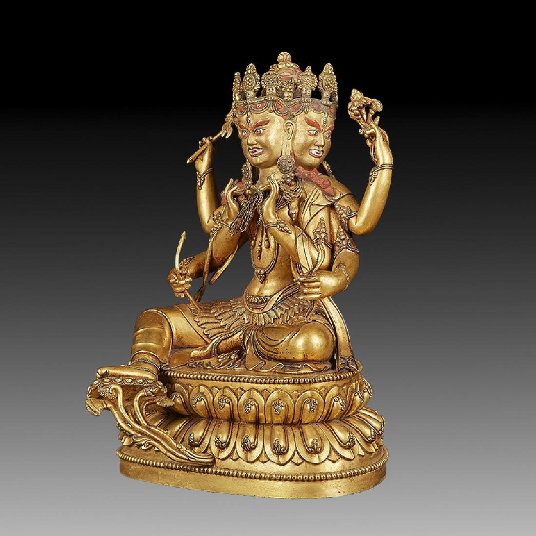 Chinese  Ming Dynasty Bronze Buddha Figure - 2