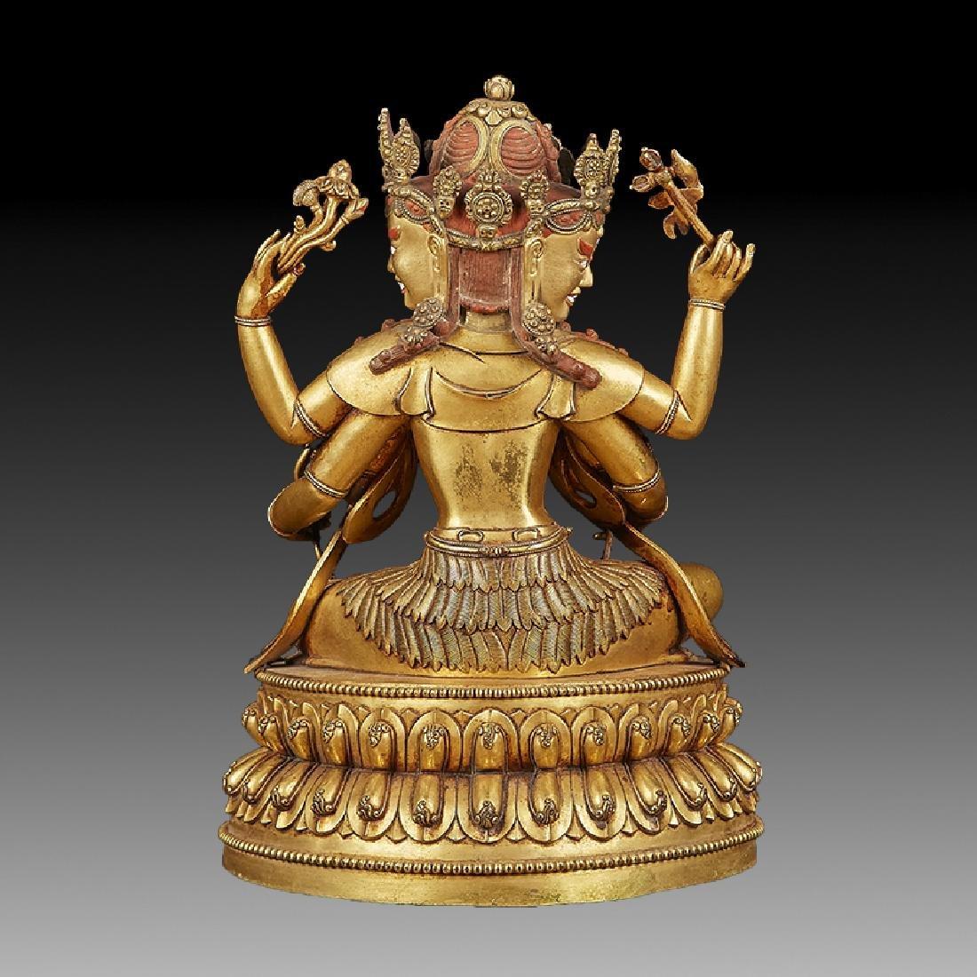 Chinese  Ming Dynasty Bronze Buddha Figure - 4