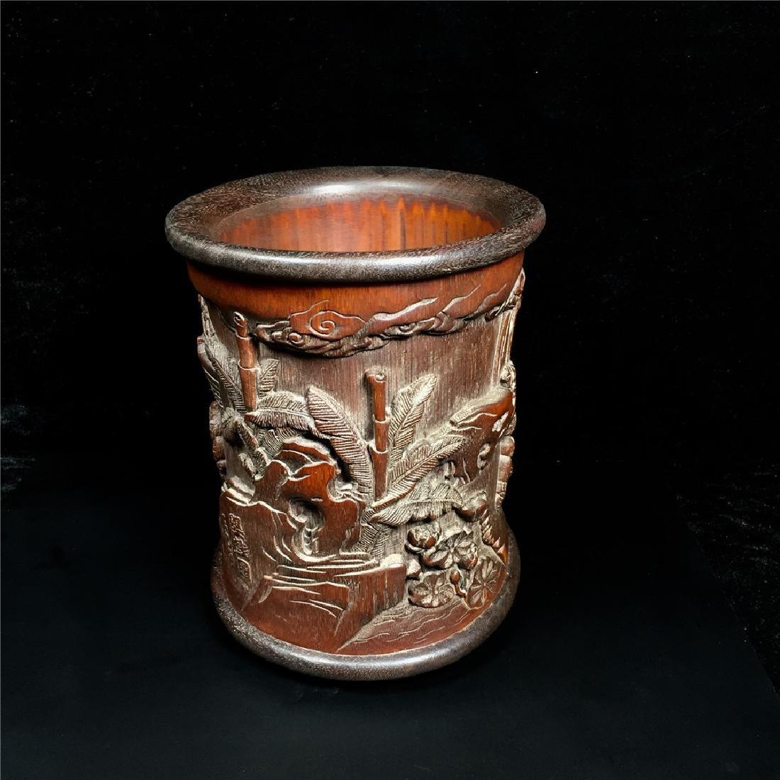 Chinese Bamboo Brush Pot - 7