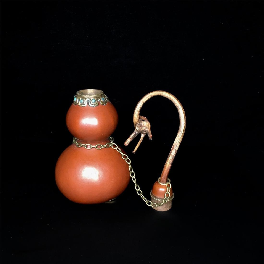 Chinese Double Gourd Moulded Ewer - 2