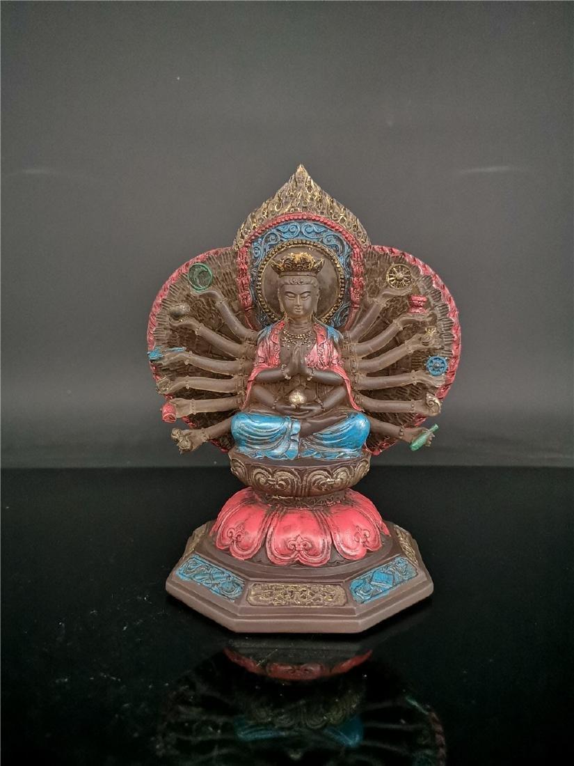 Chinese Peking-glass Display figure of Buddha