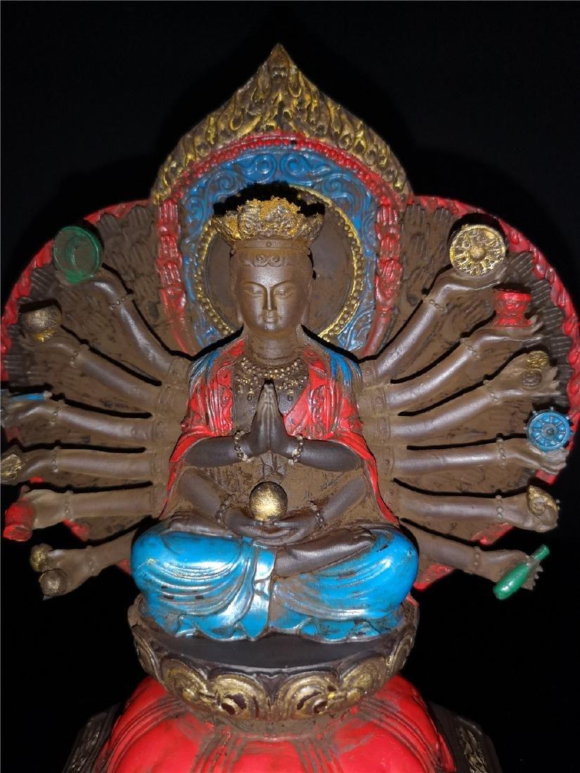 Chinese Peking-glass Display figure of Buddha - 4