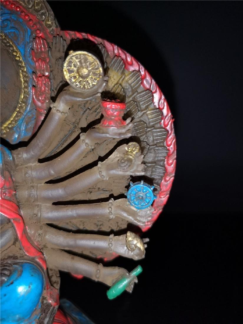 Chinese Peking-glass Display figure of Buddha - 5