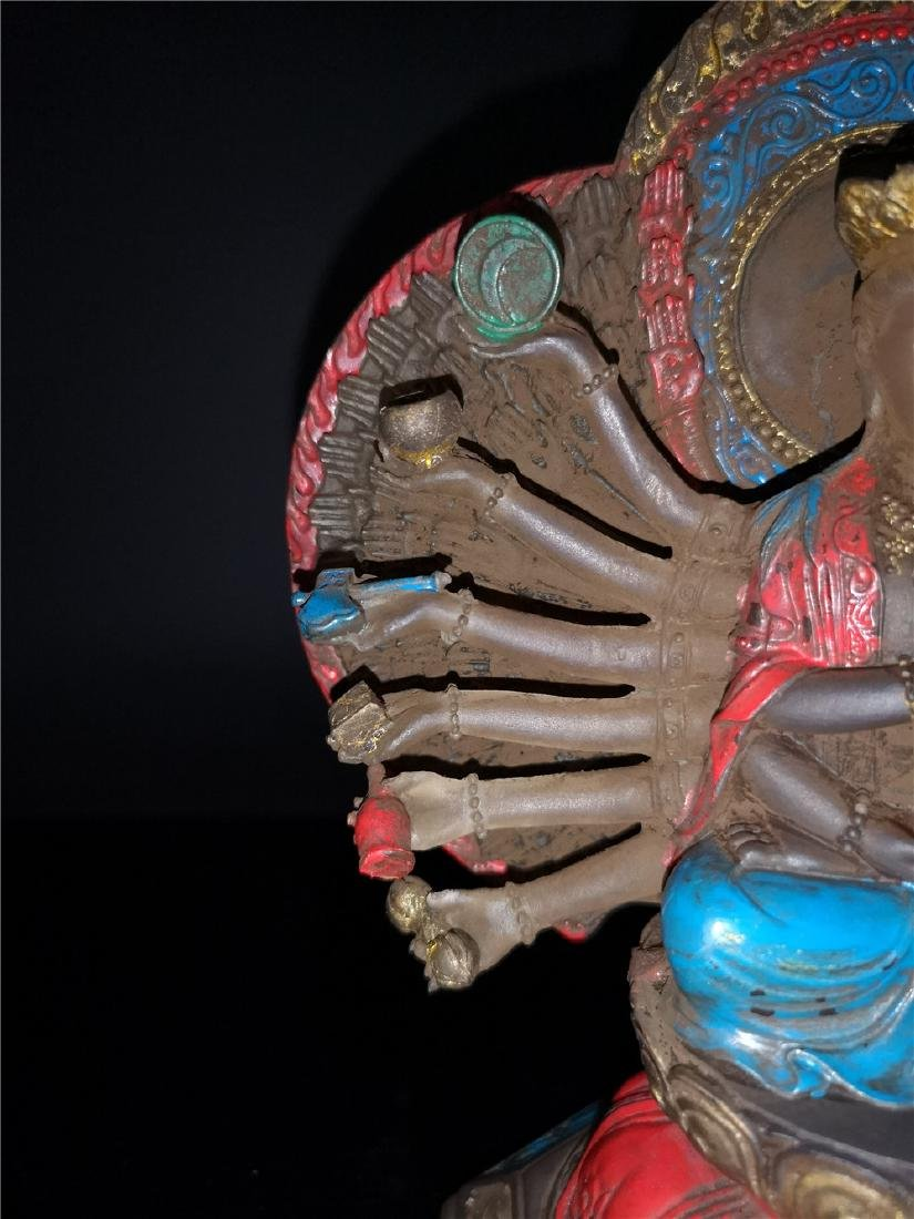 Chinese Peking-glass Display figure of Buddha - 6