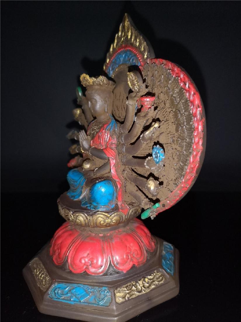 Chinese Peking-glass Display figure of Buddha - 7